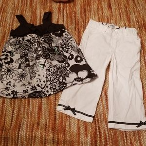 Tcp 4 4t pants peplum shirt bundle outfit set girl